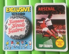 Arsenal football club top #trumps #cards 1970s & gunners goals #badge,  View more on the LINK: http://www.zeppy.io/product/gb/2/291752711731/