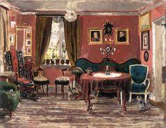 The Living-Room of the Misses Munch in Pilestredet 61, 1881, 1890 par Edvard Munch (1863-1944) #munch