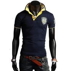 New arrivals free shipping men polo shirt embroidery short sleeve dress shirts man 4 colors M-XXL C751