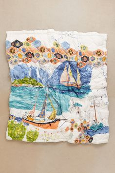 This is TOTALLY the best quilt at Anthro right now.  Port of Call Quilt - Anthropologie.com