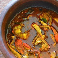 Spicy Kerala Crab Curry.