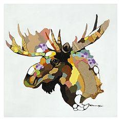 Moose Moose Painted Canvas Wall Art by Glorious Artwork