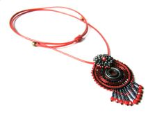New necklace (soutache and beading)