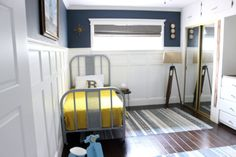 A great Big Boy room with tons of DIY items in the room!