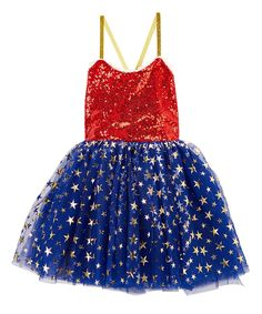 Look at this Blue & Red Sequin Superhero Dress - Infant, Kids & Tween on #zulily today!