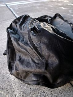 [m.a+] Double Straps Cargo Bag  BB1 SYO 0.9 col:BK size F 126,000yen  100% COW LEATHER