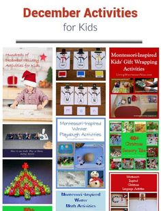 December themed activities with lots of calendar observances, Montessori-inspired activities, and family activities for all the holidays in December! Holiday Activities For Kids, Advent Activities, Playdough Activities, Winter Activities, Family Activities, Toddler Activities, Learning Activities, Montessori Activities, Preschool Lessons