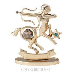 Símbolo do Zodíaco – Sagitário banhado a ouro 24K com cristais SWAROVSKI