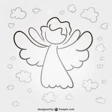Angel line art vector Christmas Rock, Christmas Angels, Desenho Kids, Statue Ange, Wings Sketch, Angel Vector, Line Art Vector, Angel Drawing, Angel Images