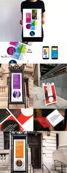 Yale Schwarzman Center // Pentagram // Identidad de marca para el espacio común de estudiantes y eventos públicos en la Universidad de Yale