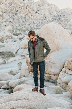 November 20, 2013. My wife and I took our RV to Joshua Tree for a couple days. Check out my Instagram for all the goods. Jacket: All Son - Urban Outfitters - $89 (similar)Sweater: Vive (viaJackThreads) (similar)Shirt:Brushed Twill- J. Crew Factory - $36Jeans:American Eagle- $39Boots:Beacon Boot-Sebago(Bonobos)Sunglasses:Ray Ban Clubmasterin Tortoise - $89Watch:Timex Easy Reader- Target - $29