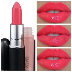 "Gorgeous Lip created using MAC ""Watch me simmer lipstick"" and ""Oyster Girl Lipglass"""