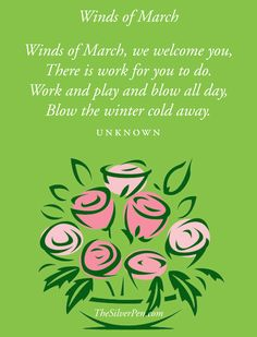 Happy March!  http://www.thesilverpen.com/2013/03/01/winds-of-march/
