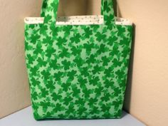 St Patrick's Day Fabric Gift Tote Bag Gift Wrap by HugsandHolidays  SOLD