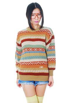 Vintage Ethnic tribal pattern knitted jumper =) www.EzzentricTopz.com