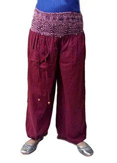Sarjana Handicrafts Women's Cotton Harem Palazzo Yoga Dance Genie Hippie Pants Small Maroon Sarjana Handicrafts http://www.amazon.com/dp/B018SH9EGC/ref=cm_sw_r_pi_dp_0xpTwb0GPZB5A