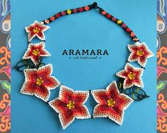 Huichol necklace Mexican Necklace Huichol Jewelry Mexican