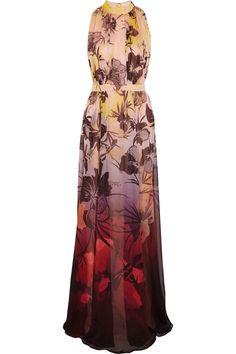 Matthew Williamson|Printed silk-chiffon gown|NET-A-PORTER.COM