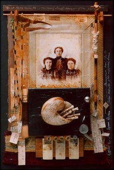 """⌼ Artistic Assemblages ⌼  Mixed Media & Collage Art - I""""R""""  1996"""