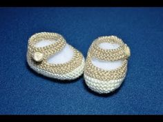 How to Knit Basic Mary Jane Baby Booties Part 1 (Less Seaming and Knit in the round), My Crafts and