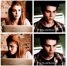 """""""It was a book first"""" stydia Teen Wolf Stydia, Teen Wolf Mtv, Teen Wolf Funny, Teen Wolf Cast, Teen Wolf Quotes, Teen Wolf Memes, Tv Quotes, Life Quotes, Movies Showing"""