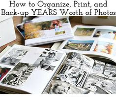 How to Organize and Print YEARS worth of Family Photos by Ashley Hackshaw / Lil Blue Boo Faire Un Album Photo, Photo Projects, Diy Projects, Foto Fun, Make Photo, Create Photo, Photo Storage, Photo Displays, Getting Organized