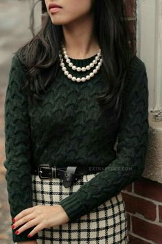 I love the color, fabric, fit, and stitch detailing of this sweater.