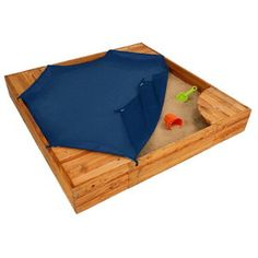 KidKraft 60-in x 60-in sandbox from Lowe's - comes with cover!