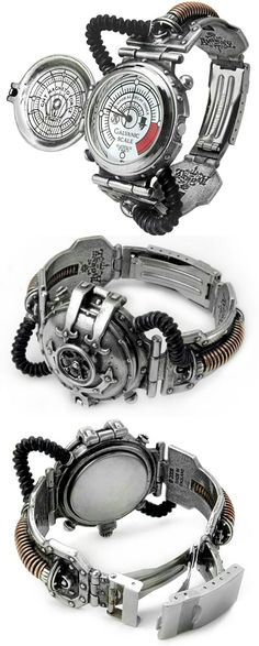 Steam-Powered Entropy Calibrator Watch - rare mid-Victorian invention . - Tap the link to shop on our official online store! You can also join our affiliate and/or rewards programs for FREE! Men's Watches, Luxury Watches, Cool Watches, Watches For Men, Pocket Watches, Casual Watches, Wrist Watches, Steampunk Gadgets, Steampunk Watch