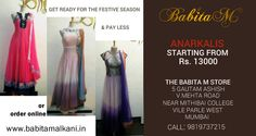 #Anarkalis starting from Rs 13,000 for this #festive season. #Monsoon #Sale #Shopping #FashionDeals