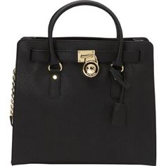 63fe99ea1422 Michael Kors Hamilton tote and wallet Brand new never used. Black with gold  hard ware tote and wallet. Got for my birthday never used.