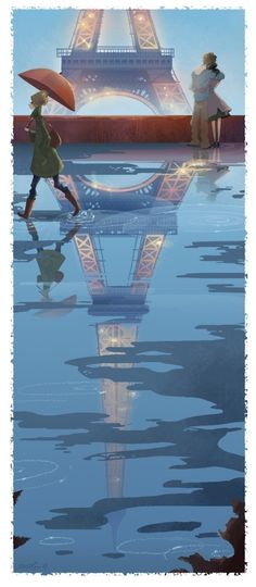 Brittney Lee - Paris Print -| |- We have a bunch of prints by her already. I just love how pretty they are and whimsical.