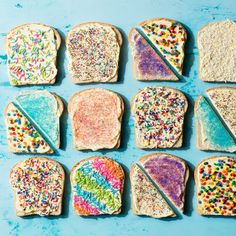 "The original rainbow food is a classic Australian snack called ""fairy bread. Australian Party, Australian Desserts, Australian Food, Australian Recipes, Birthday Breakfast, Christmas Breakfast, Breakfast For Kids, Rainbow Snacks, Rainbow Food"