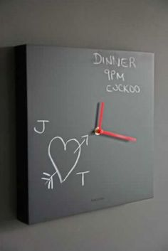 I just love clocks and this would fantastic as a kitchen or kids bedroom feature.