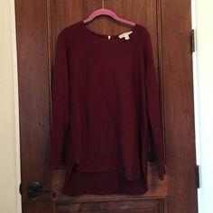 New Michael Kors sweater ! Pretty Michael Kors sweater with gold back zipper!! Michael Kors Sweaters