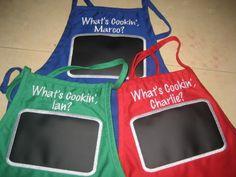 chalkboard fabric apron