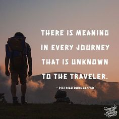 There is meaning in every journey that is unknown to the traveler. The Cost Of Discipleship, Dietrich Bonhoeffer, Rooftop, Meant To Be, Journey, Instagram Posts, Travel, Rooftops, Viajes
