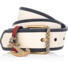 YSL - Anchor embellished Leather Belt