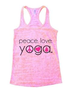 Peace. Love. Yoga. Burnout Tank Top By Womens Tank Tops