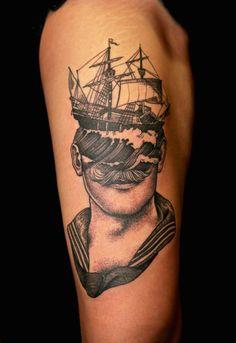 Une sélection des superbes tatouages de l'artiste italienPietro Sedda, basé à Milan, qui imagine des portraits étranges et fascinants, imbriquant plusieur