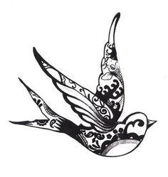 jerry sailor bird tattoo design