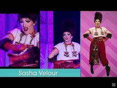 Sasha Velour faux fur fabulous runway on RuPaul's Drag Race season 9