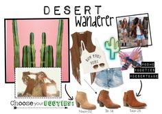 Desert Wanderer  #booties #fashion #trends #nowtrending #style #desert #ankleboots #brownbooties #shoes #camel #suede #cactus #boho #bohemian #trendy #bohocute #cutestyle #sotd #ootd #outfitidea