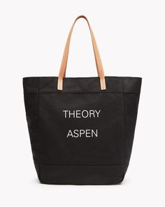 Aspen Box Tote in Canvas and Leather