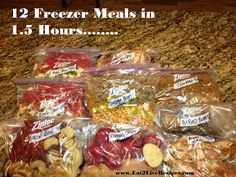 My Mama Always Said....: 12 Meals in 1.5 Hours- MORE Freezer Cooking