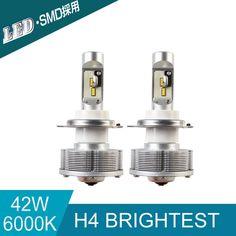 57.60$  Buy here - http://ali8u9.shopchina.info/1/go.php?t=32737138802 -  Newest H4 Trucks Auto LED Source Light Car Bulbs Headlight  Led Conversion Kit H4 12SMD 6000K 20W 2400LM white Lights 57.60$ #buyininternet