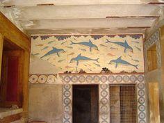 Dolphin fresco. Caicedo. Palace of Minos or Knossos, Crete. Photo:   Juan Manuel