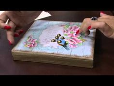 Mulher.com - 16/02/2016 - Arte em madeira - Marisa Magalhães PT2 - YouTube Decoupage Tutorial, Decoupage Box, Diy And Crafts, Arts And Crafts, Stencil, Craft Videos, Decorative Boxes, Scrapbook, Make It Yourself
