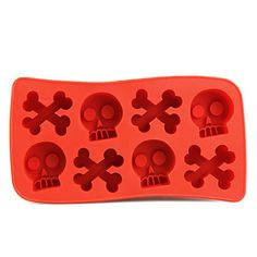 USD $ 5.19 - Funny Bone and Skull Shaped Silicone Ice Tray Mold, Free Shipping On All Gadgets!