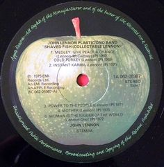 Lennon, John BEATLES - Shaved Fish Label: 1A 062-05987 5C 062-05987 A vg++
